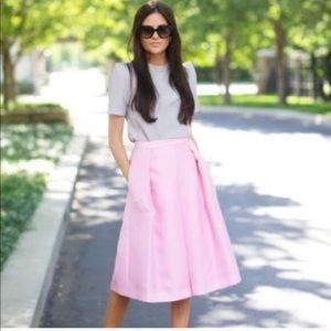 Nwt Tibi Simona pink full midi skirt sz4